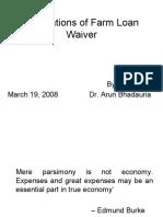 Farm Loan Waiver 2008