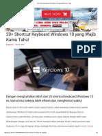 20+ Shortcut Keyboard Windows 10 yang Wajib Kamu Tahu!