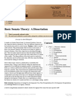 Basic Sonata Theory a Dissertation