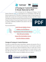 Design and Tuning in Control Systems - GATE Study Material in PDF