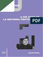 El Protestantismo a 500 Años de Hoy