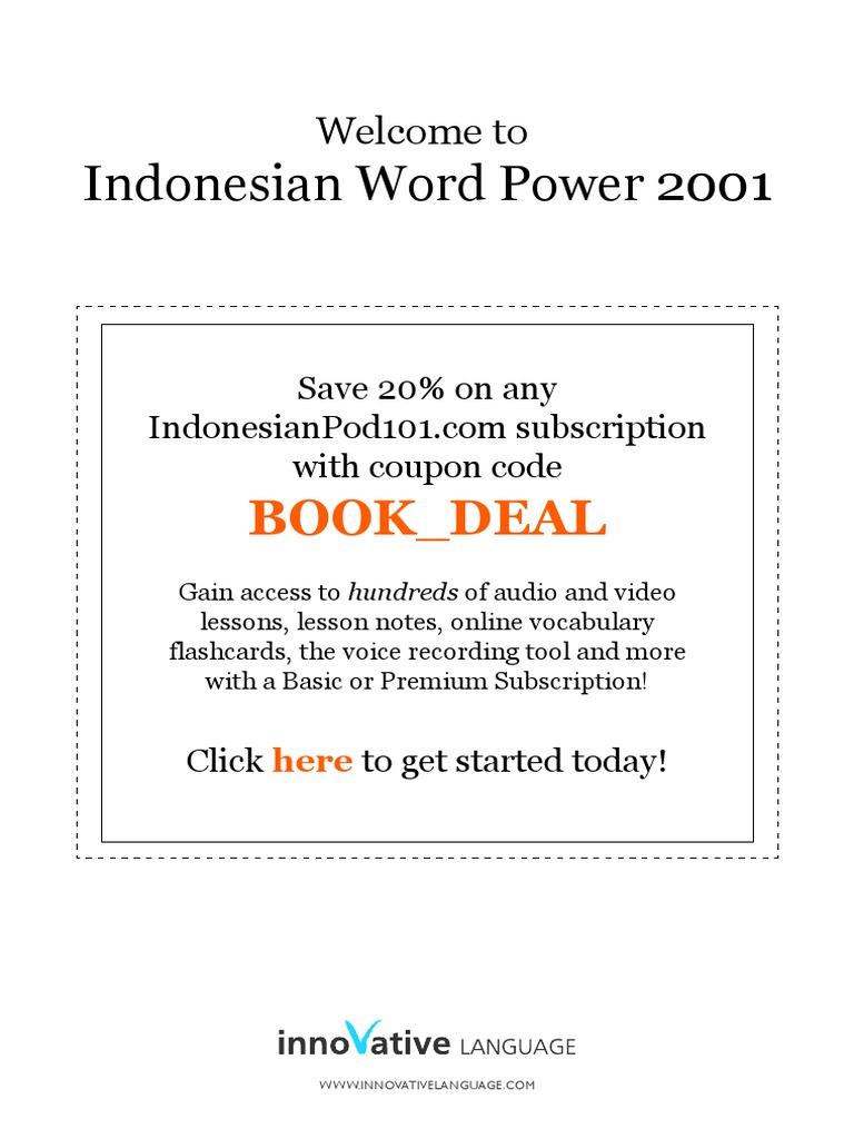 Vocab For Bahasa Indonesia Necktie