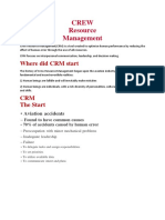 Crew Resource Management Historical Development