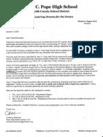 pope parent letter ap information