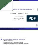 Conceptos Básicos de Biología Molecular, II