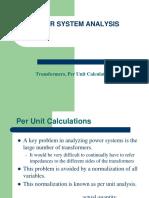 Transformer Per Unit Calculations
