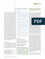 Acute Glucose Response Properties Beyond Feeding