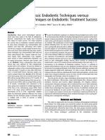 _General - Fleming 2010 - Comparison of Classic Endodontic Techniques versus Contemporary Techniques on Endodontic Treatment Success.pdf