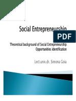 Social entrepreneursheip Opportunies Identification