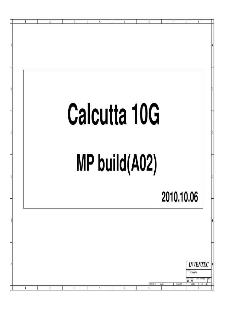 Inventec CT10G Calcutta 10G 6050A2381501-MB-A02 Toshiba