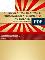 eBook Atitudes Ativas, Reativas e Proativas No Atendimento Ao Cliente
