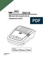 Impresora Zebra Zq110 Mfi Ug Es