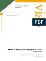 DUARTE, P.  Ensaio de linguagem ou linguagem de ensaio