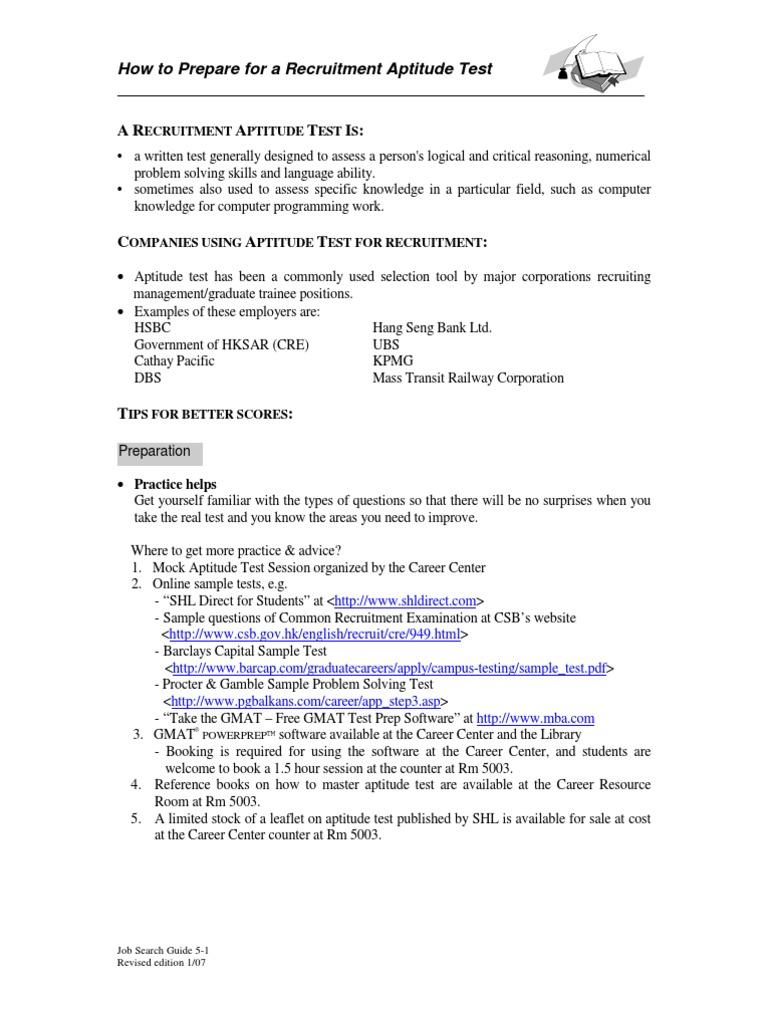 Prepare for Aptitude Test | Graduate Management Admission Test