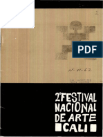 Programa del 2do. Festival Nacional de Arte de Cali. 1962