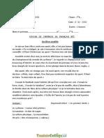 Devoir de Synthèse N°1 - Français Un élève modèle - 7ème (2010-2011) Mr Jameleddine Mohamed.pdf