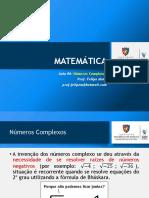Matemática 06 SLD Números Complexos