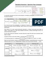 Resumen FSR de Matematica Financiera - Ejercicios Tipo y Formulas