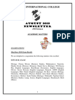August 2010 Newsletters