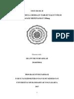 Formulasi Tablet Salut Selaput Asam Mefenamat 250mg