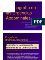 Ecografía en Urgencias abdominales