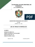 265319485 Informe de Resalto Hidraulico