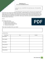 Worksheet IPA Kelas 8 Semester 2