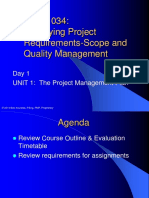 Unit 1-The Project Management Plan