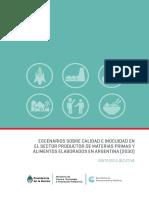 Escenarios Sobre Calidad e Inocuidad en Materias Primas y Alimentos Elaborados 2030