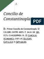 Concilio de Constantinopla I - Wikipedia, La Enciclopedia Libre