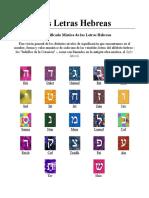 Las Letras Hebreas (1)
