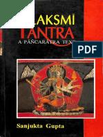 Lakshmi Tantra a Pancharatra Text Sanjukta Gupta Text