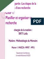 Cour 1methodologie Du Mémoire