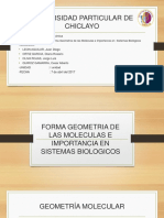 FORMA GEOMETRIA DE LAS MOLECULAS E IMPORTANCIA EN SISTEMAS BIOLOGICOS.pptx