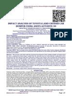 IMPACT ANALYSIS OF TOYOTA LAND CRUISER CAR BUMPER USING ANSYS AUTODYN 3D