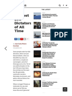 10 Most Evil Dictators of All Time