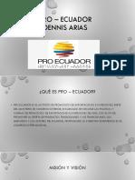 Pro – Ecuador - Resúmenes Congreso