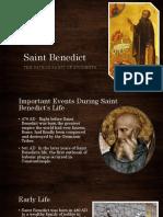 saint benedict presentation