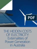 ATSE Hidden Costs Electricity report