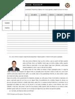 Português para Estrangeiros - Lição 08 - Exercício 07 Revisão Presente-Passado