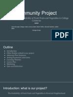 community project presentation