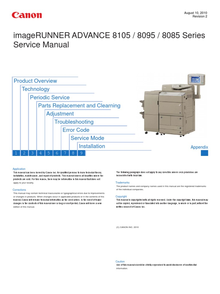 Canon Imagerunner Advance 8085 8095 8105 Series Service Manual | Electrical  Connector | Hard Disk Drive