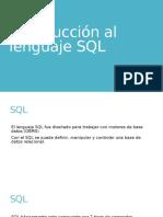 Introducción Al Lenguaje SQL(DML)