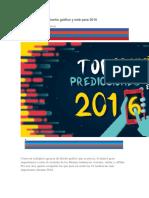 16 Tendencias de Diseño Gráfico y Web Para 2016