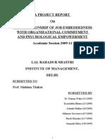Job Embeddedness