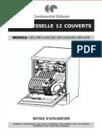 Lave Vaisselle CELVW1249 CELVS1249 CELVB1249 Notice