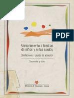 Asesoramiento a Familias de Niños y Niñas Sordos. Orientaciones y Pautas de Actuación