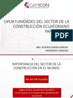 Oportunidades Del Sector de La Construccion Ecuatoriano - Ponencia de Silverio Duran en El Foro Empresarial de Revista Lideres