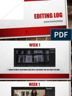 Editing Log