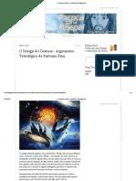 O Design Do Cosmos - Argumento Teleológico Da.